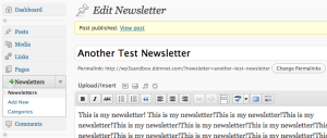 Wordpress Newsletter Cusotm Post Type