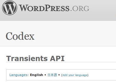 Wordpress Transients API