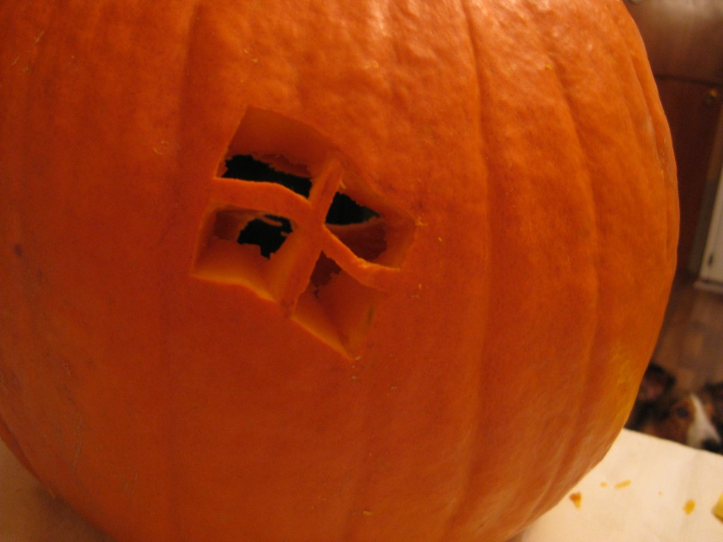 Dual-Boot Pumpkin Rear (lights on)