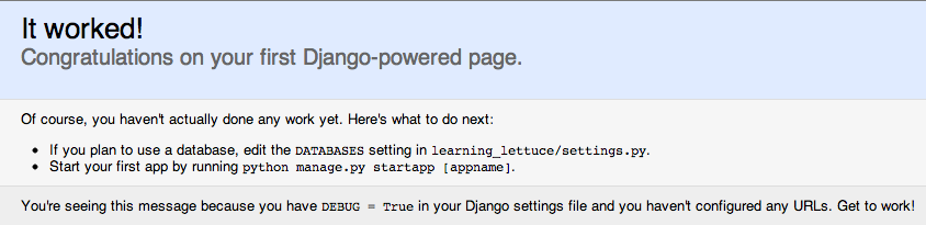 Django Powered!