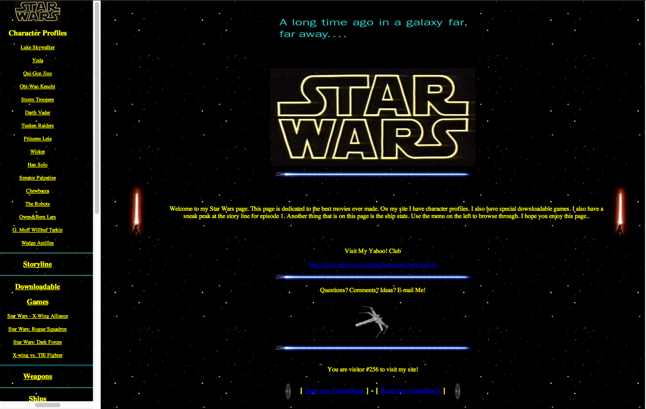 Star Wars Restoration: Home Page Finished